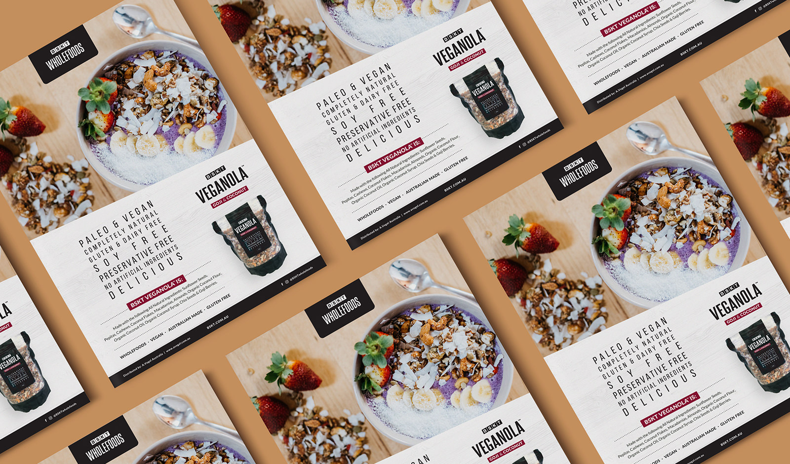 Image of an advertising design for wholefoods company