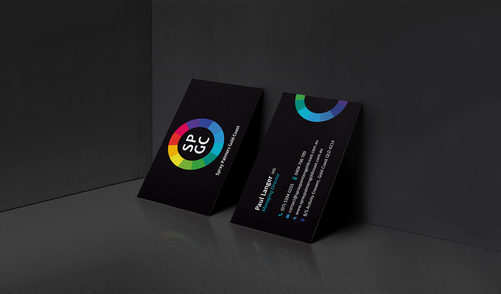 An image of business card design