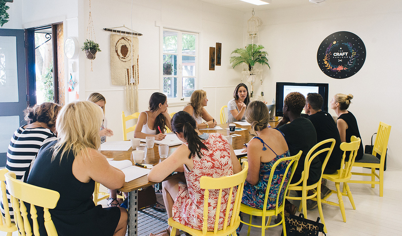 An image of a group of people at a marketing workshop