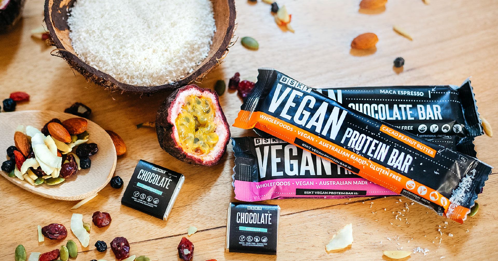 Photography and styling of wholefood products