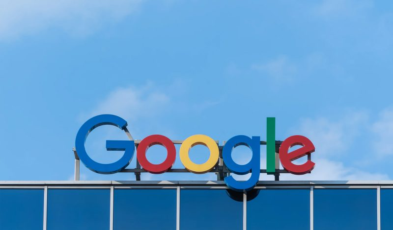 An image of google signage