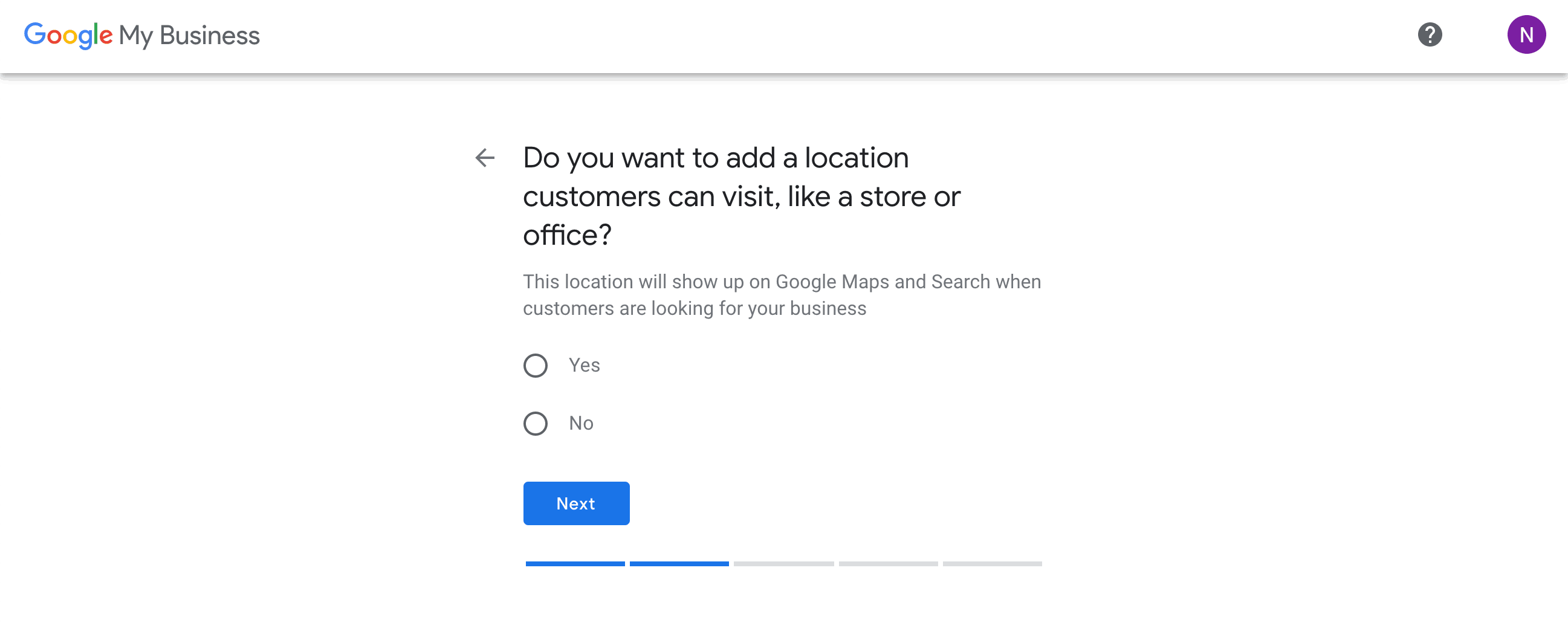 Google My Business - Location