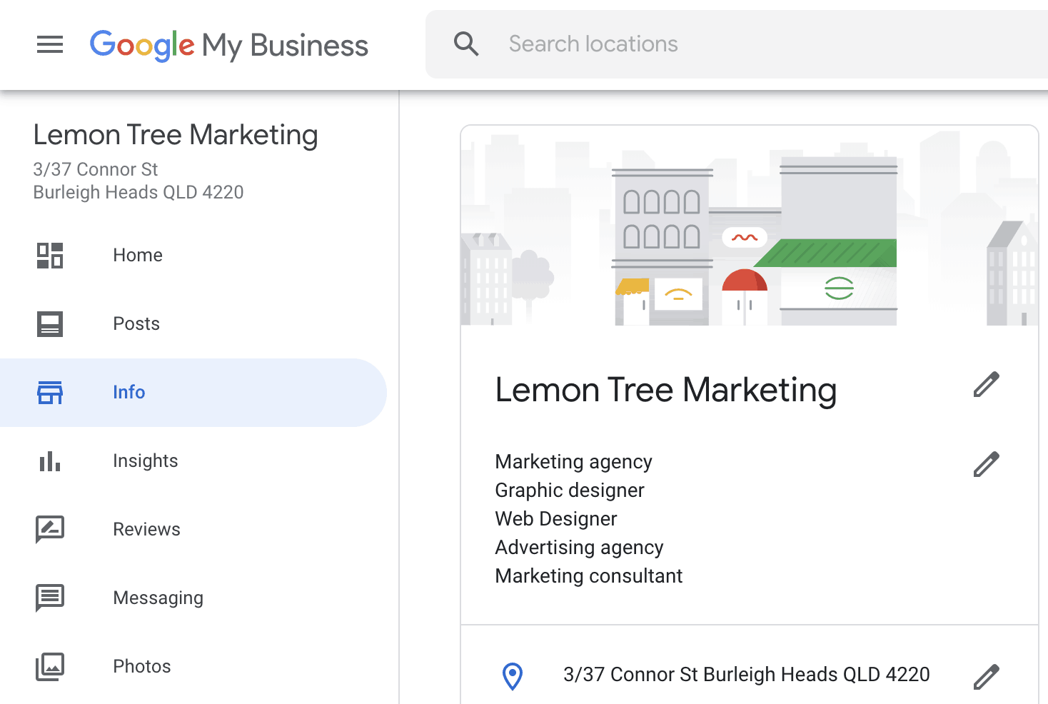 Google My Business - Dashboard